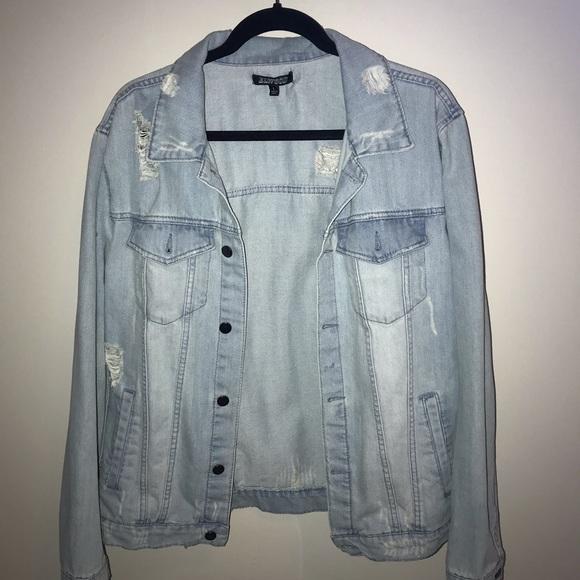 men's ripped jean jacket